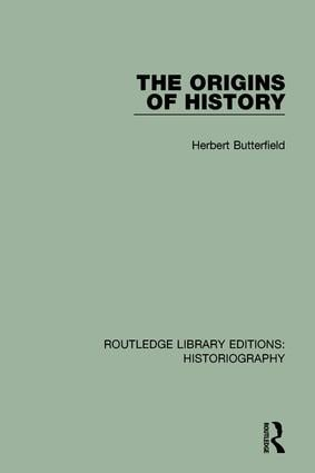 The Origins of History book cover