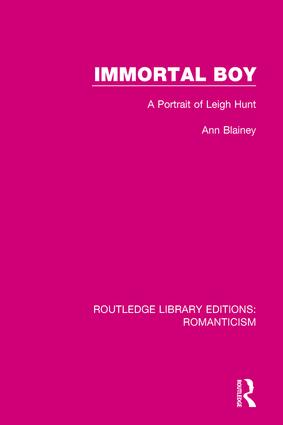 Immortal Boy: A Portrait of Leigh Hunt book cover
