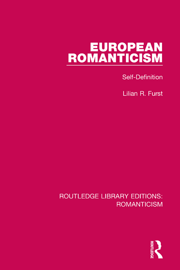 European Romanticism: Self-Definition book cover
