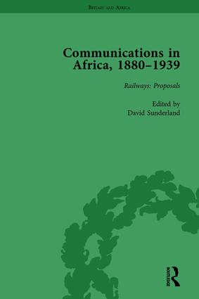 Communications in Africa, 1880–1939, Volume 1: 1st Edition (e-Book) book cover
