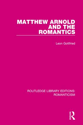 Matthew Arnold and the Romantics book cover