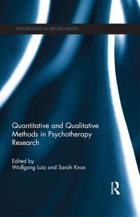 Quantitative and Qualitative Methods in Psychotherapy Research (Paperback) book cover