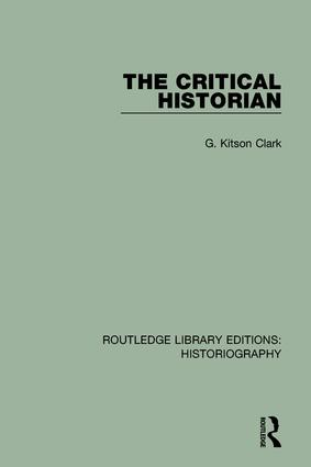 The Critical Historian: 1st Edition (Paperback) book cover