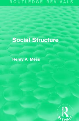 Social Structure: 1st Edition (Paperback) book cover