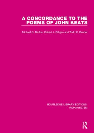 A Concordance to the Poems of John Keats book cover