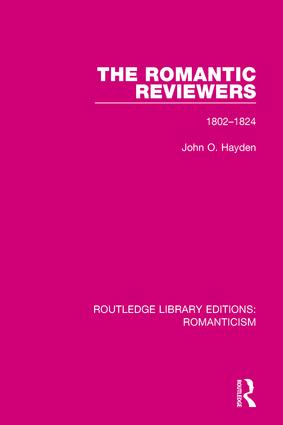 The Romantic Reviewers: 1802-1824 book cover
