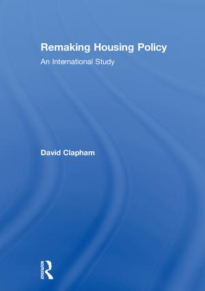 Remaking Housing Policy: An International Study book cover
