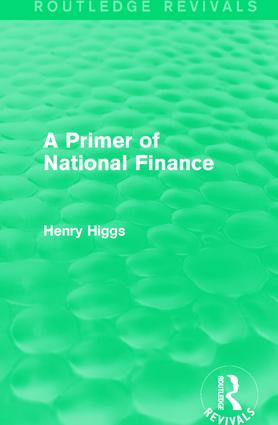 A Primer of National Finance: 1st Edition (Hardback) book cover