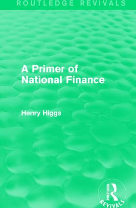 A Primer of National Finance: 1st Edition (Paperback) book cover