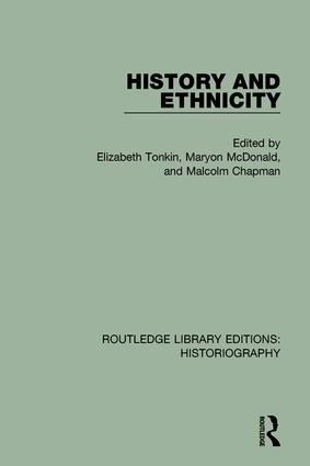 History and Ethnicity book cover