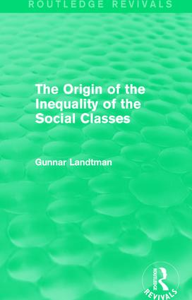 The Origin of the Inequality of the Social Classes book cover