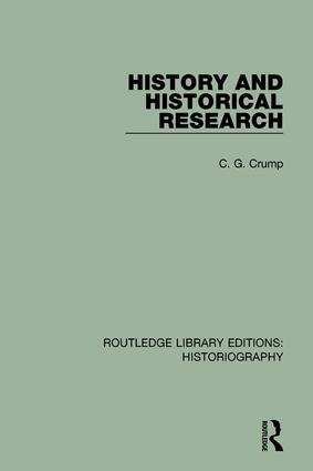 History and Historical Research book cover
