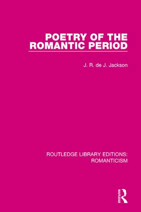 Poetry of the Romantic Period book cover