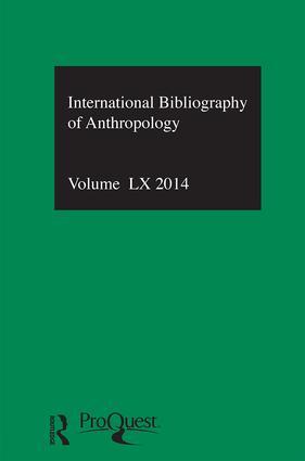 IBSS: Anthropology: 2014 Vol.60