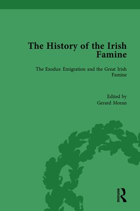 The History of the Irish Famine: The Exodus: Emigration and the Great Irish Famine book cover
