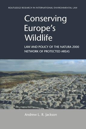 Conserving Europe's Wildlife: Law and Policy of the Natura 2000 Network of Protected Areas book cover