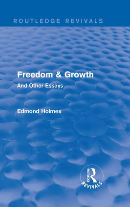 Freedom & Growth (Routledge Revivals): And Other Essays, 1st Edition (Hardback) book cover