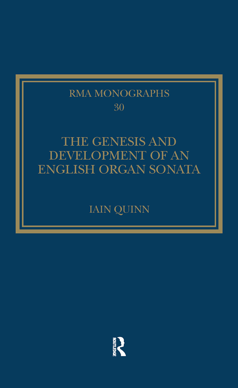 The Genesis and Development of an English Organ Sonata book cover
