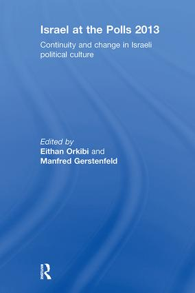Israel at the Polls 2013: Continuity and Change in Israeli Political Culture book cover