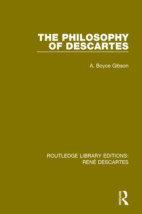 The Philosophy of Descartes book cover