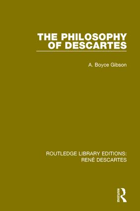 The Philosophy of Descartes: 1st Edition (Paperback) book cover