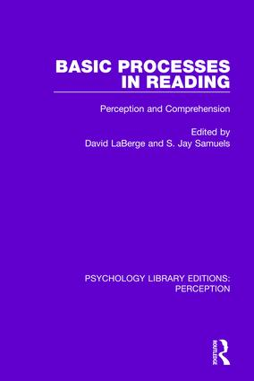 Basic Processes in Reading: Perception and Comprehension, 1st Edition (Paperback) book cover