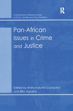 Pan-African Issues in Crime and Justice book cover