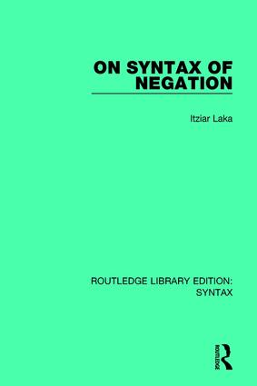 On Syntax of Negation: 1st Edition (Paperback) book cover
