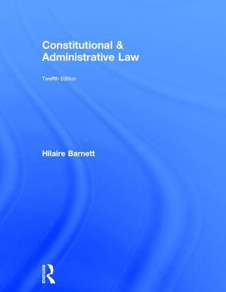 Constitutional & Administrative Law book cover