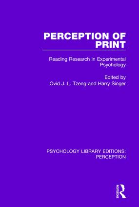 Perception of Print: Reading Research in Experimental Psychology, 1st Edition (Paperback) book cover