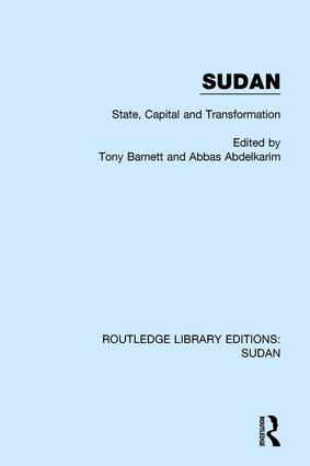 Sudan: State, Capital and Transformation book cover