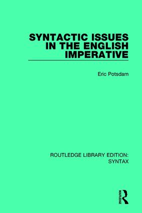 Syntactic Issues in the English Imperative: 1st Edition (Paperback) book cover