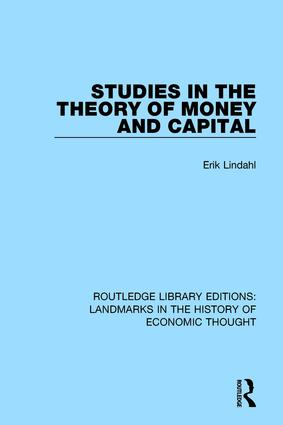 Studies in the Theory of Money and Capital: 1st Edition (Paperback) book cover