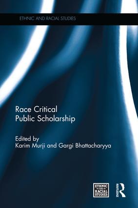 Race Critical Public Scholarship book cover