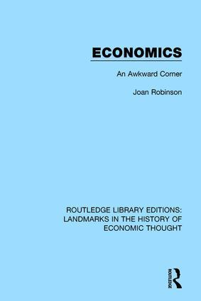 Economics: An Awkward Corner, 1st Edition (Paperback) book cover