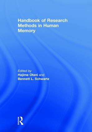 Handbook of Research Methods in Human Memory book cover