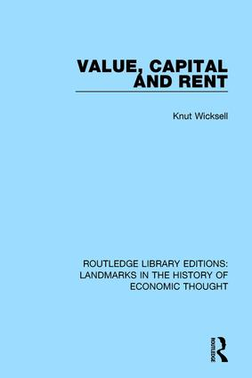 Value, Capital and Rent: 1st Edition (Paperback) book cover