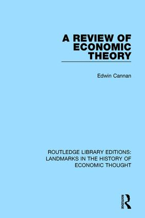 A Review of Economic Theory: 1st Edition (Hardback) book cover