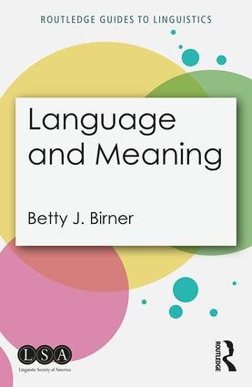 Language and Meaning book cover