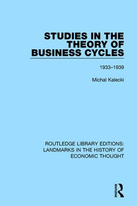 Studies in the Theory of Business Cycles: 1933-1939, 1st Edition (Paperback) book cover