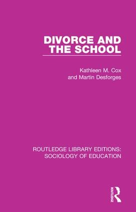 Divorce and the School book cover