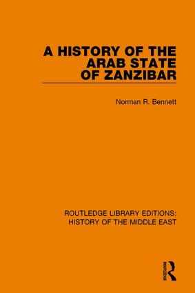 A History of the Arab State of Zanzibar: 1st Edition (Paperback) book cover