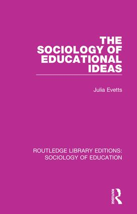 The Sociology of Educational Ideas book cover