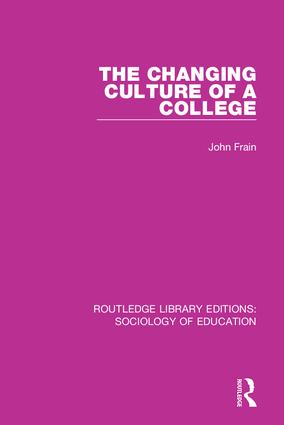 The Changing Culture of a College book cover