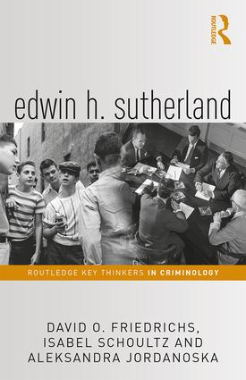 Edwin H. Sutherland: 1st Edition (Hardback) book cover