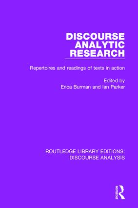 Discourse Analytic Research: Repertoires and readings of texts in action book cover