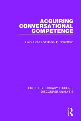 Acquiring conversational competence book cover