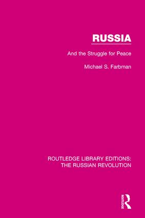 Russia: And the Struggle for Peace book cover