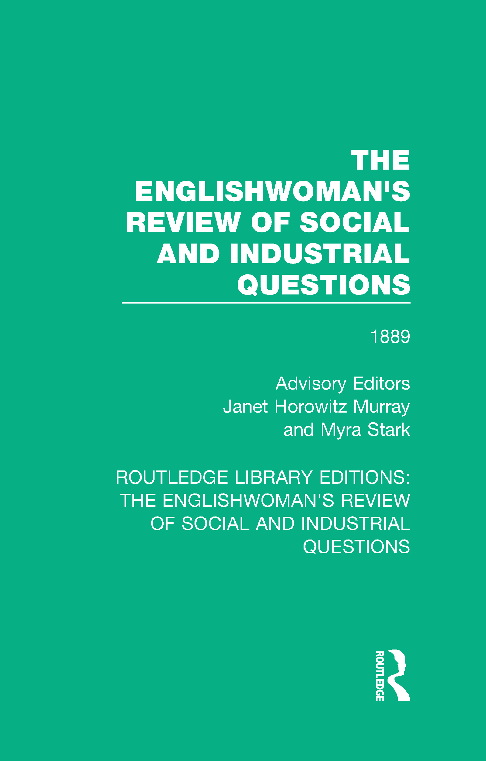 The Englishwoman's Review of Social and Industrial Questions: 1889 book cover