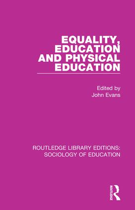 Equality, Education, and Physical Education book cover